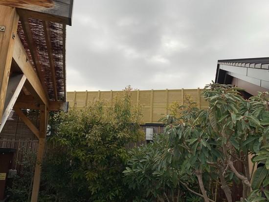 香流温泉喜多の湯様 竹垣取り替え工事