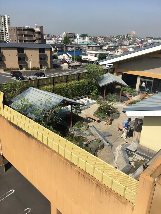 有松温泉喜多の湯様 竹垣取り替え工事